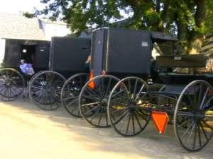 Dorf ohne Autos - dafür mit Pferdekutschen