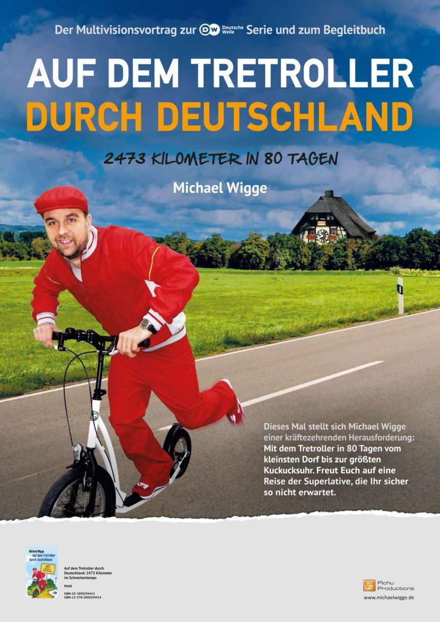 Reisevortrag Auf dem Tretroller durch Deutschland - 2473 Kilometer in 80 Tagen
